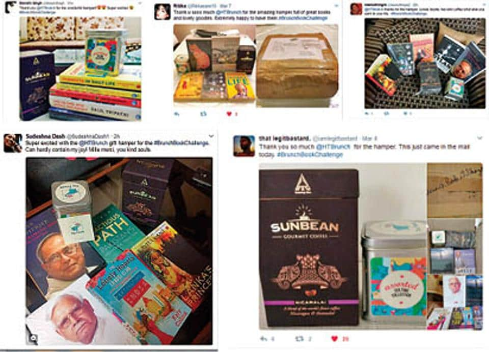 Pictures of the hampers, shared by the winners of the #BrunchBookChallenge