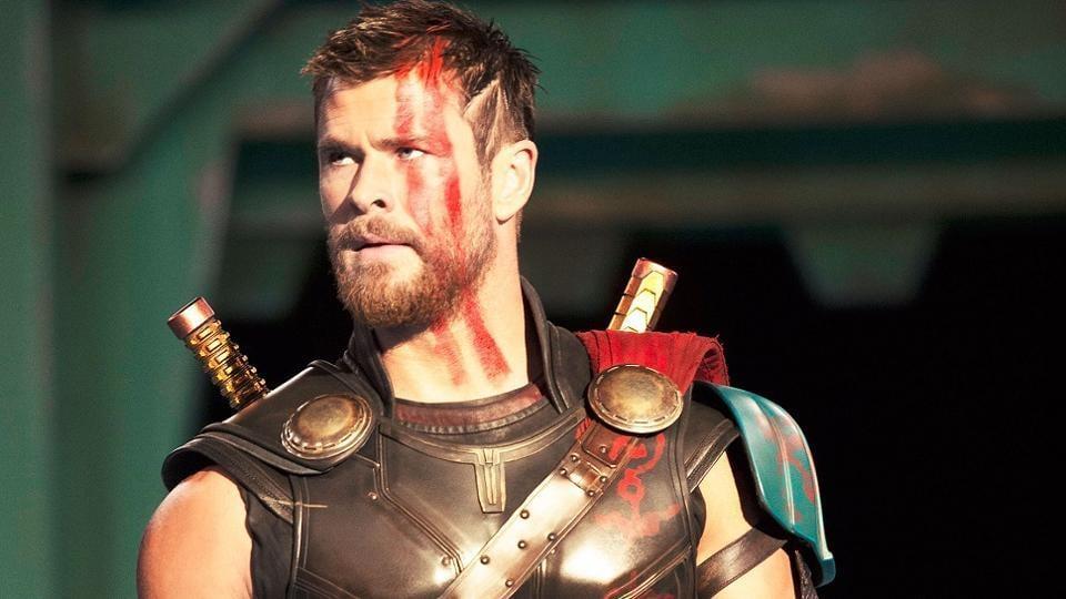 Chris Hemsworth in a still from Thor Ragnarok.