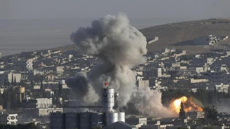 Syria,Aleppo,Airstrikes in Syria