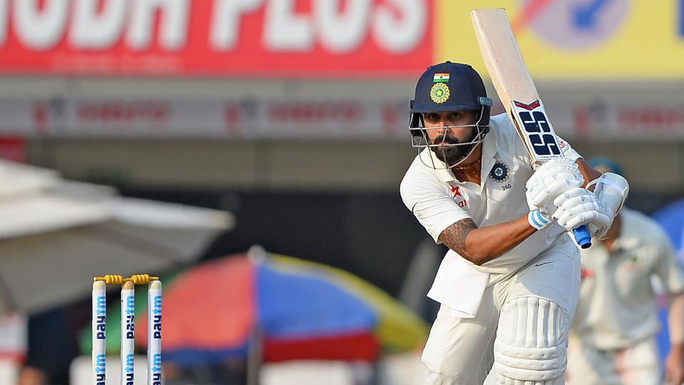 Indian batsman Murali Vijay plays a shot during the second day of the third Test cricket match. (AFP)