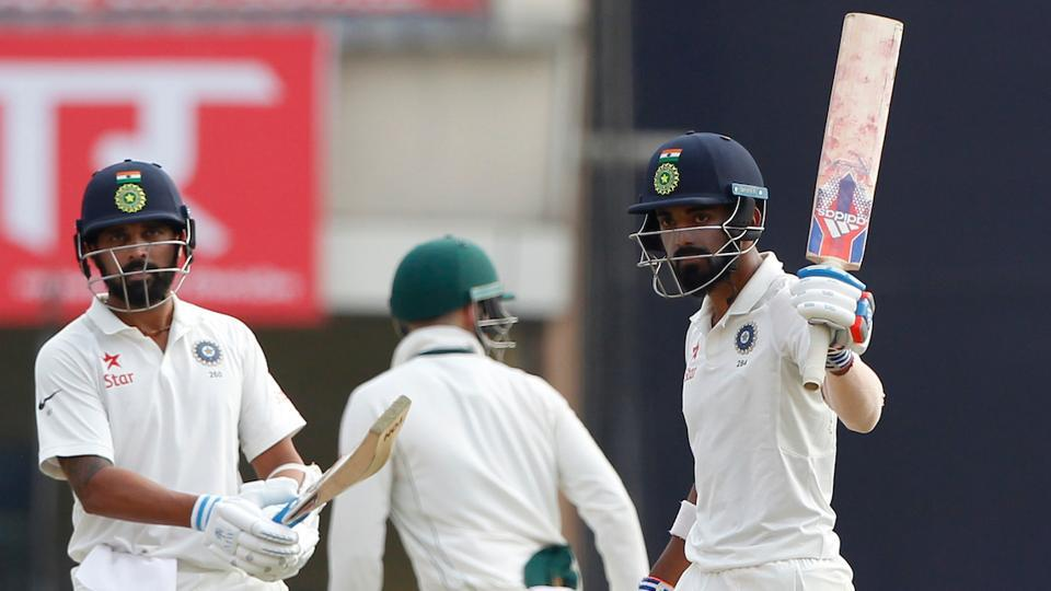 KL Rahul and Murali Vijay during Day 2 of the third Test between India and Australia in Ranchi. (BCCI)