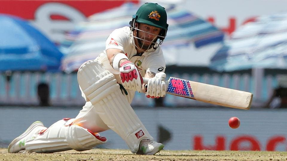 Matthew Wade of Australia in action against India in Ranchi. (BCCI)