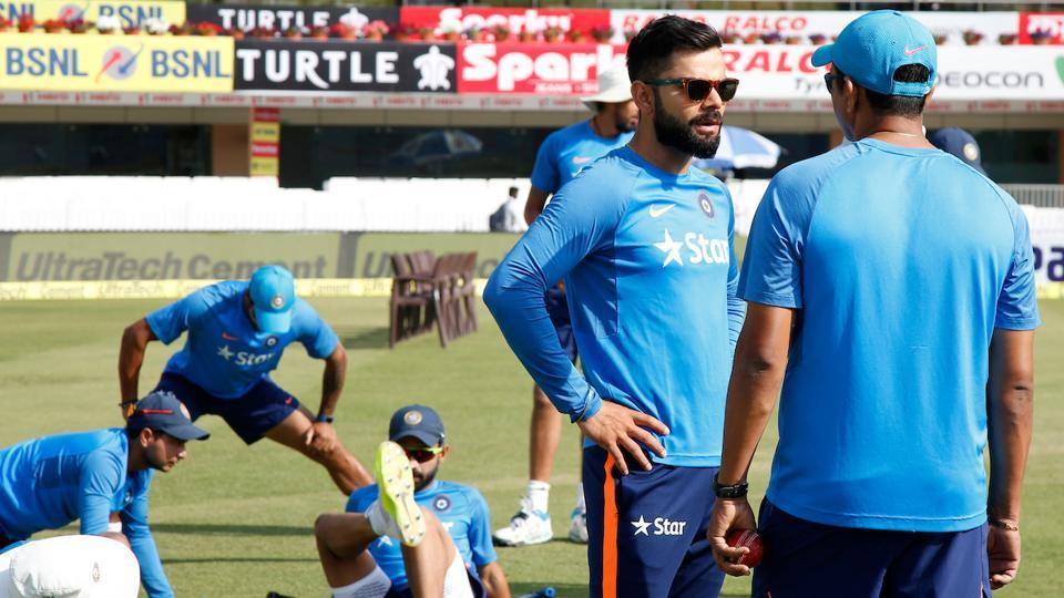 Virat Kohli ahead of Day 2's action of the India vs Australia Test in Ranchi. (BCCI)