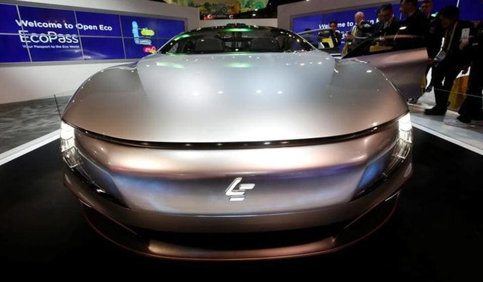 LeSee Pro electric concept vehicle by LeEco is displayed during the 2017 CES in Las Vegas, Nevada, in January.