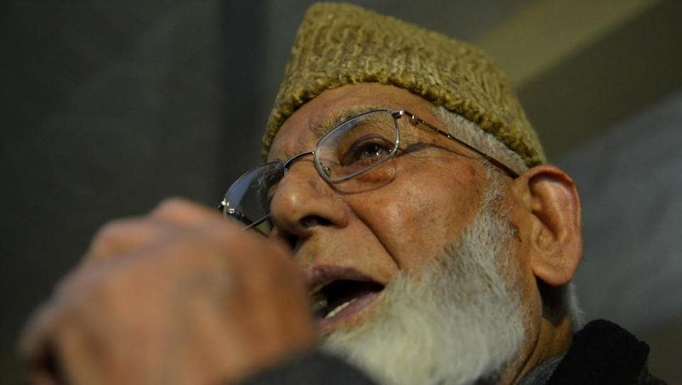 """A number of separatist leaders, including Syed Ali Geelani (in pic), asked Pakistan to refrain from embarking on an """"adventure of annexation""""."""