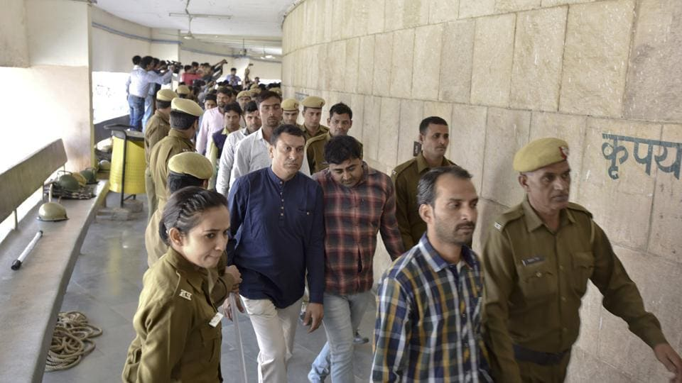 Thirteen accused were held guilty of murder whereas 18 were convicted of rioting and other crimes under various sections of the IPC.