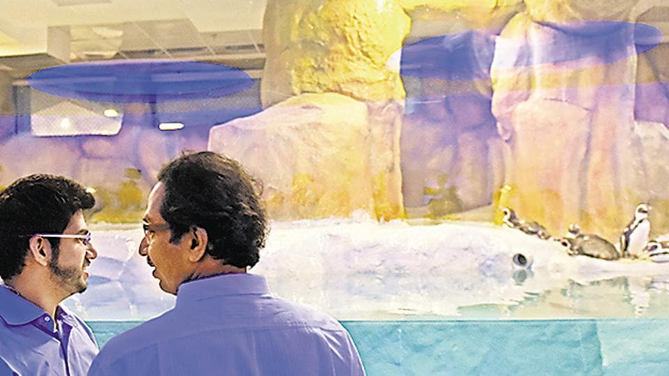 Shiv Sena chief Udhav Thackeray and Yuva Sena chief Aaditya Thackeray inaugurating the exhibit on Friday.