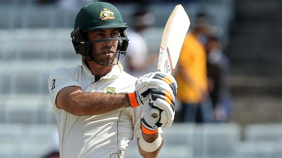 Glenn Maxwell of Australia in action during day two of the third test match. (BCCI)