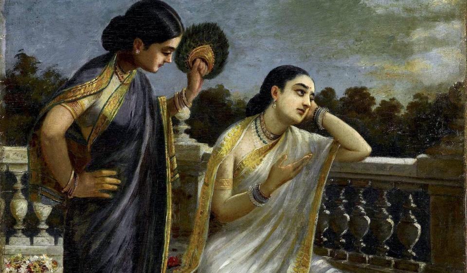 Raja Ravi Varma's Untitled portrait of Damayanti sold for Rs 11 crores (approx.) fetching double the upper estimated of Rs 4 crore at Sotheby's Modern and Contemporary South Asian Art Sale.