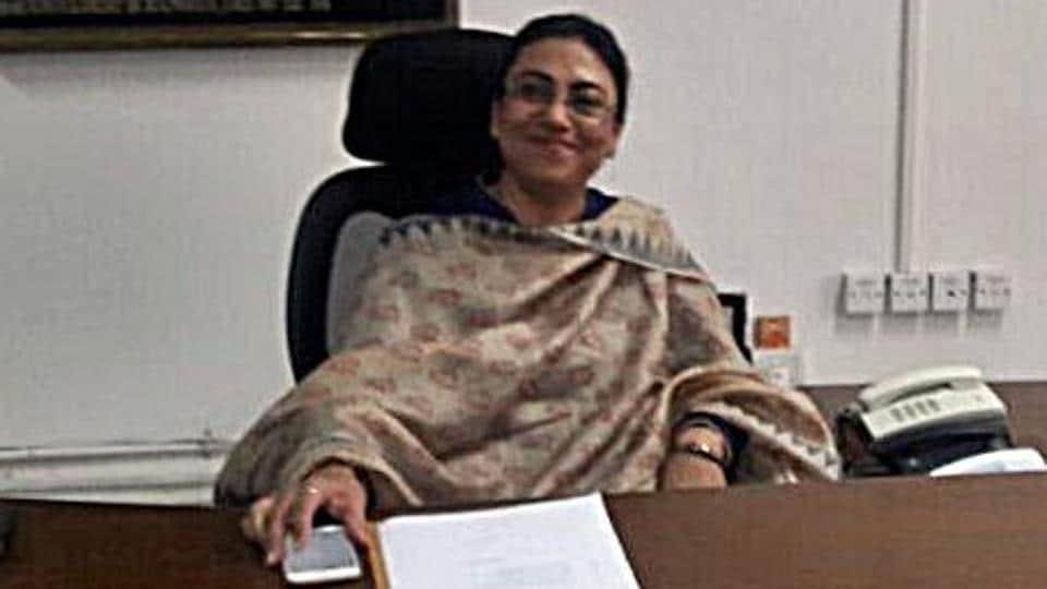 New deputy commissioner Kanwalpreet Brar in her office on Friday.
