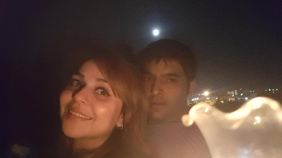 """Kapil Sharma posted a picture with his girlfriend Bhavneet aka Ginni on Twitter, and wrote: """"Will not say she is my better half .. she completes me .. love u ginni .. please welcome her .. I love her so much:)"""""""