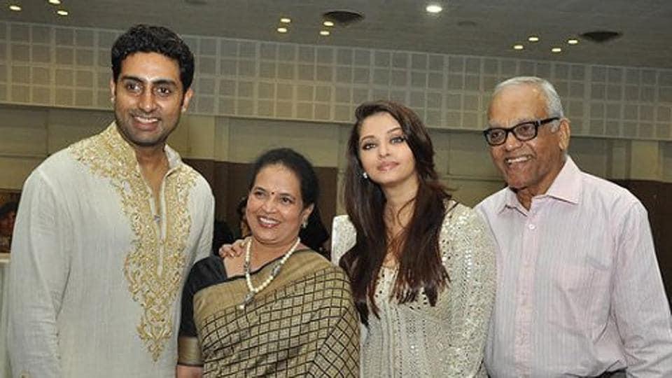 Aishwarya Rai's father Krishnaraj Rai passed away today
