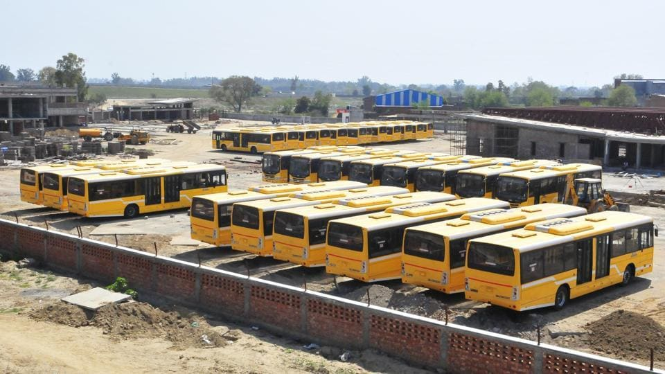 BRTS buses