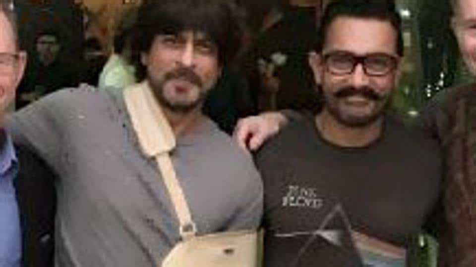 Bollywood star Shah Rukh Khan met Aamir Khan and speculations were rife that the duo might team up for a film.