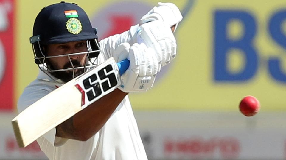 Murali Vijay in action against Australia in the third Test match in Ranchi. (BCCI)