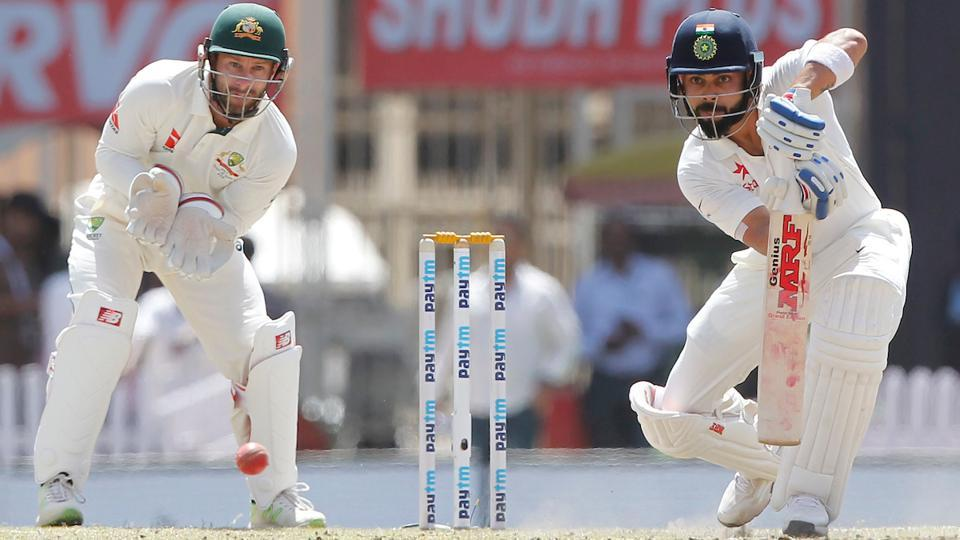 Virat Kohli bats during Day 3 of the third India vs Australia Test in Ranchi.