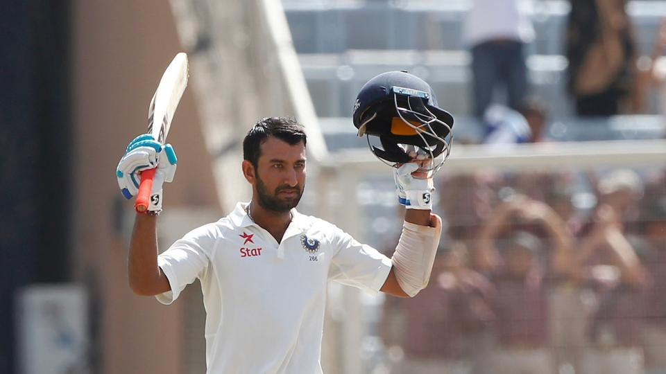 Cheteshwar Pujara became the first Indian batsman to score a century in the current series between India vs Australia.