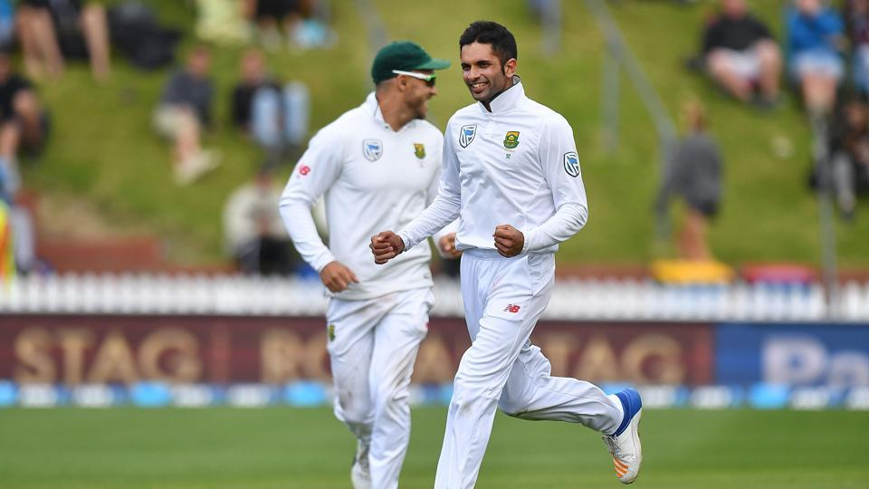 Keshav Maharaj's 6/40 was the fifth-best haul by a South Africa spinner away from home as South Africa thrashed New Zealand by eight wickets to take a 1-0 lead in the three-match series.