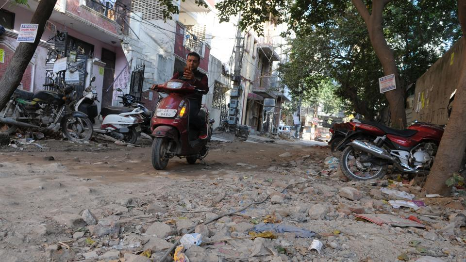 DLF Phase 3 residents said that the roads are even worse during the rainy season.