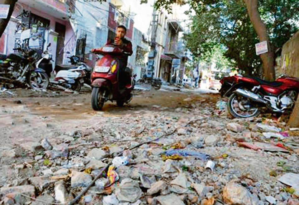 Residents in DLF colonies have long been grappling with damaged roads and poor civic services.