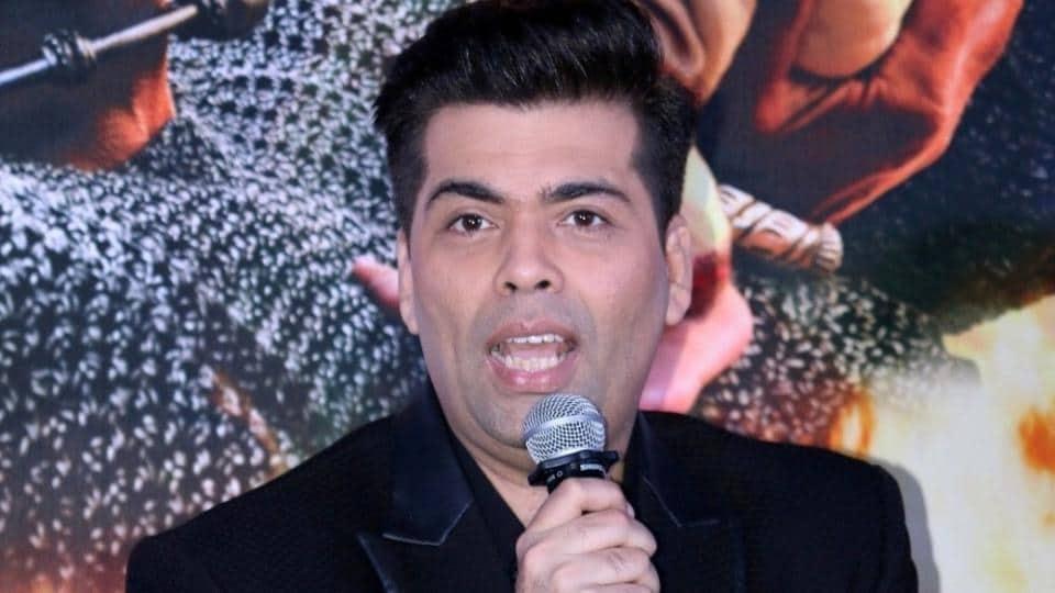 Filmmaker Karan Johar during the trailer launch of film Baahubali 2 The Conclusion in Mumbai.