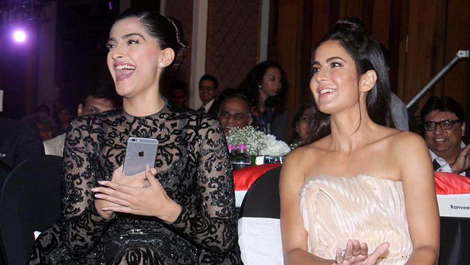 Two of Bollywood's most stylish women - Sonam Kapoor and Katrina Kaif  - floored us with their charm. (Pramod Thakur/ HT Photo)