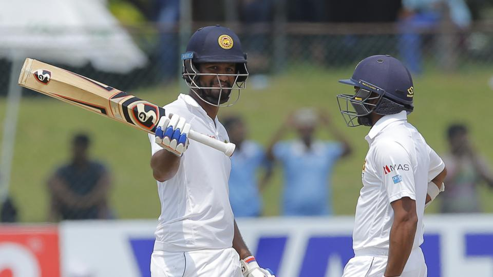 Dimuth Karunaratne scored his fifth Test ton but Bangladesh were on top in the Colombo Test versus Sri Lanka.