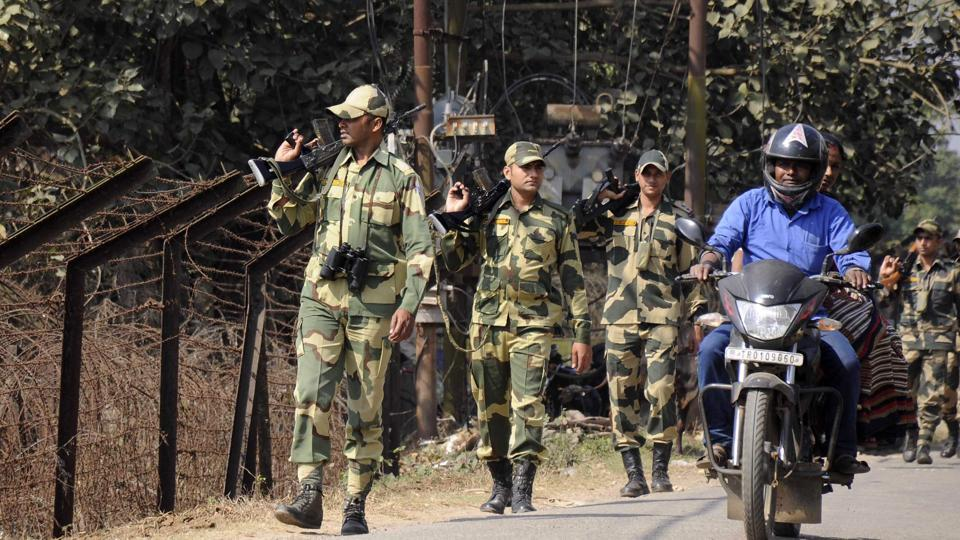 Tripura shares an 856-km border with Bangladesh, a portion of which is still unfenced.