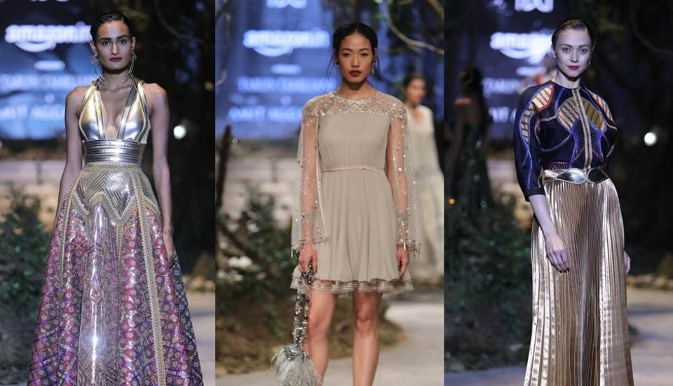 The final day from fashion week gave us a lot of fall inspiration. Here are creations from the Grand Finale by designers Tarun Tahiliani + Amit Aggarwal.