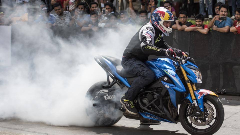 Gibieza is all about the need for speed and style. (Satish Bate/HT Photo)