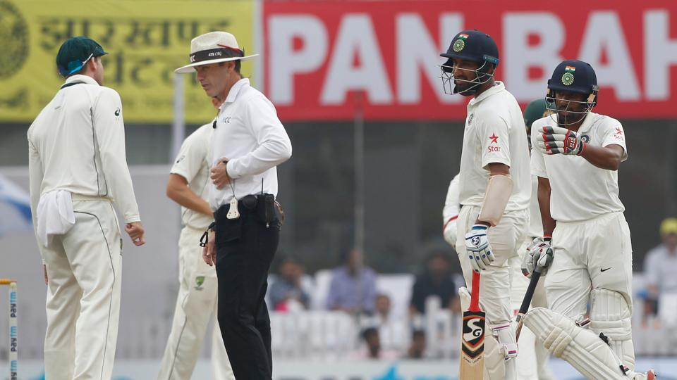Chris Gaffaney provided a hilarious moment on the fourth day of the Ranchi Test between India vs Australia.