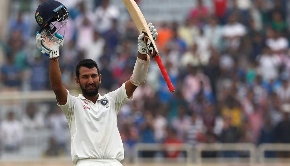Cheteshwar Pujara became only the third Indian player after VVSLaxman and Sachin Tendulkar to score two double centuries against Australia.