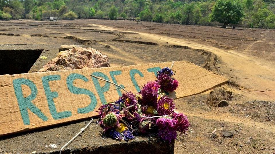Artifacts placed by mourners at the location where the body of Irish tourist Danielle McLaughlin was found in Canacona, some 60kms south of Panjim, Goa.