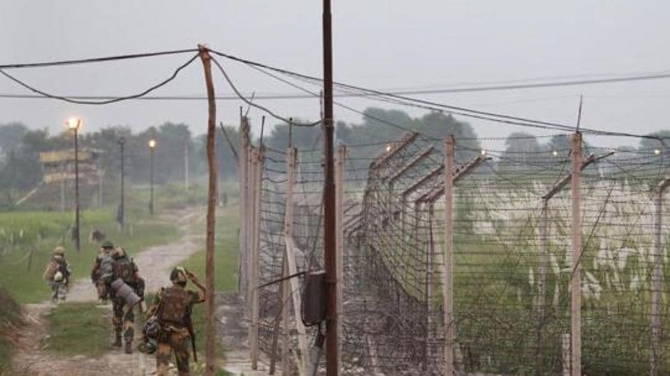 Pakistani troops violated the ceasefire along the LoC twice on Sunday.