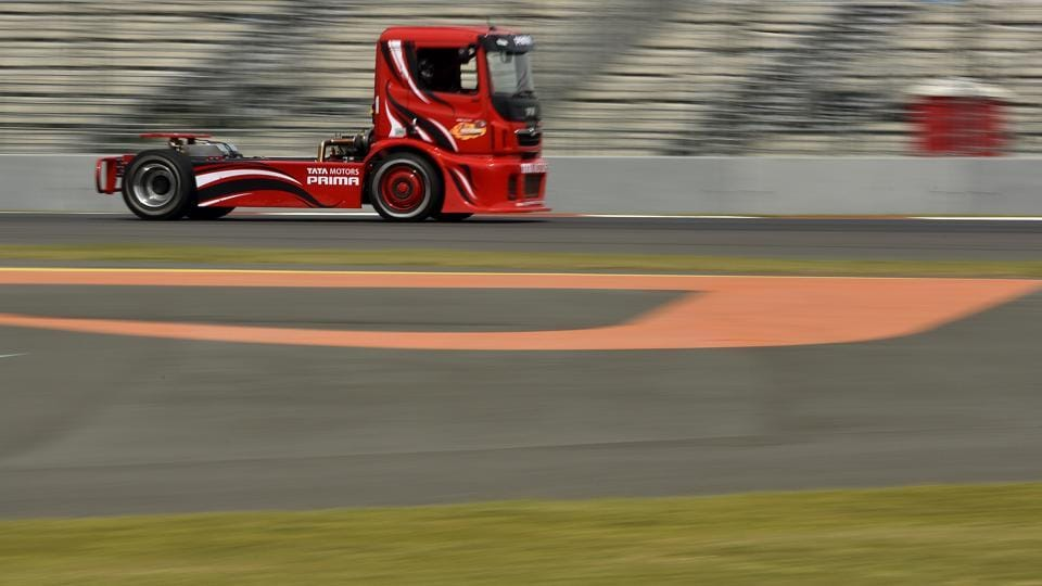 Tata Motors announced the launch of the T1 Prima Truck Racing Championship in 2014, in Delhi and introduced truck racing in India. (Virendra Singh Gosain/HT PHOTO)