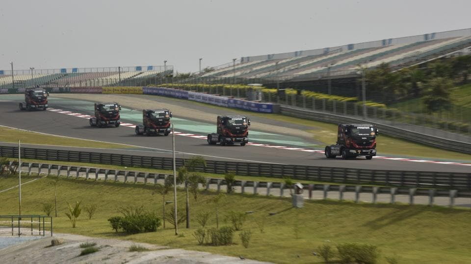This season Tata  has unveiled the most powerful truck in the country, containing 1040 British Horsepower (BHP), on the tracks.  (Virendra Singh Gosain/HT PHOTO)