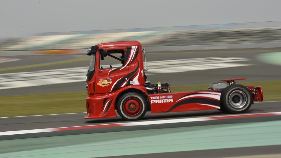 Conducted under the aegis of FIA & FMSCI, the T1 Prima Truck Racing Championship will feature Tata PRIMA race trucks, built for the purpose. A one-make championship, six teams will compete in the Pro Class category of the T1 PRIMA Truck Racing Championship. (Virendra Singh Gosain/HT PHOTO)