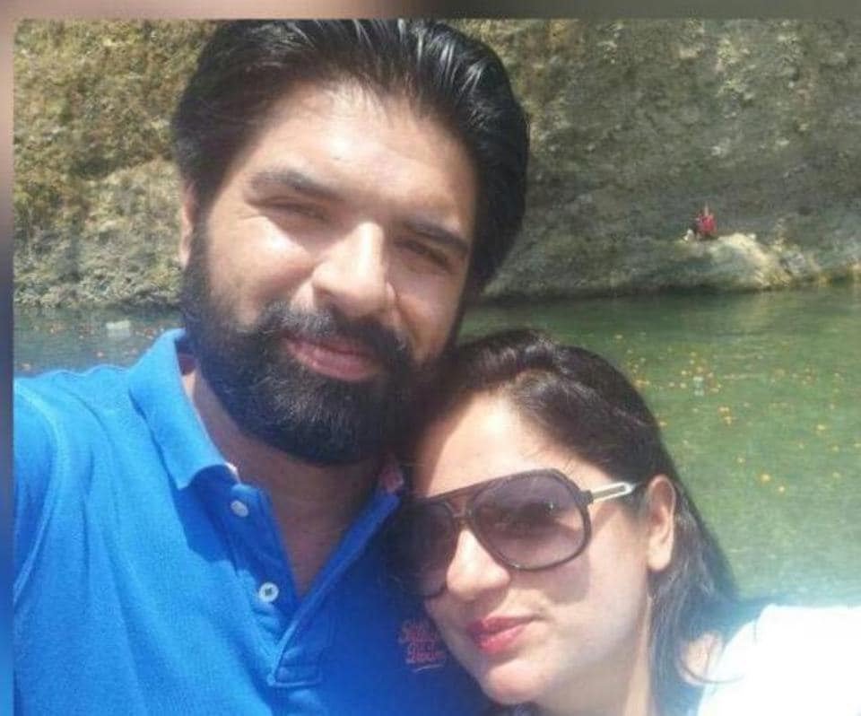 The victim Ekam  Singh Dhillon and (right) the murder accused Seerat Kaur.