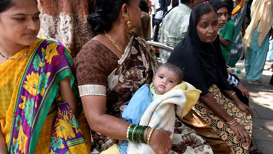 A 3-month-old girl was refused admission at Sion hospital. (Kunal Patil/HT Photo)