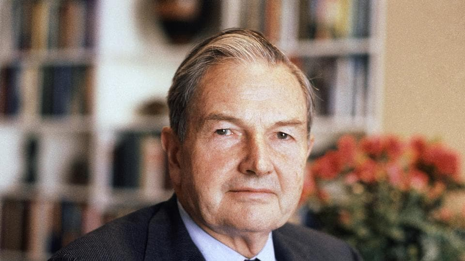 In this April 31, 1981, file photo, David Rockefeller poses for a photograph. The billionaire philanthropist who was the last of his generation in the famously philanthropic Rockefeller family died, Monday, March 20, 2017.
