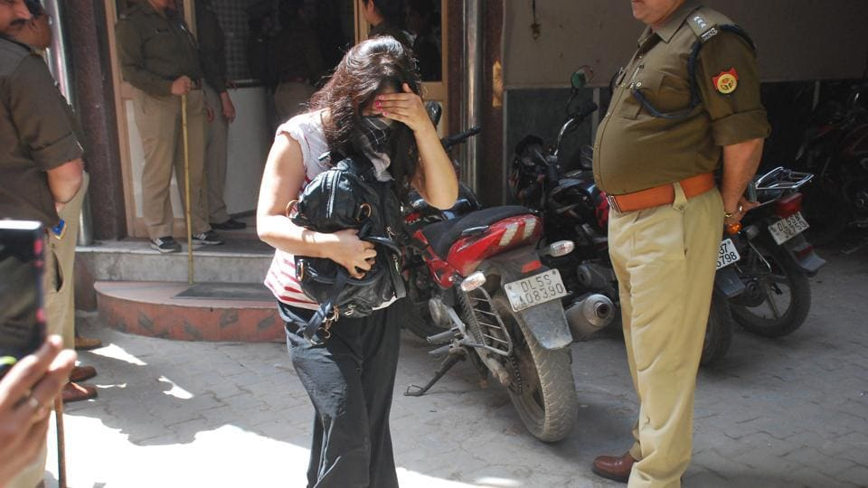 On Monday afternoon, several police teams, including women officers, were sent for surprise searches and found 50 couples inside the rooms of the two hotels.