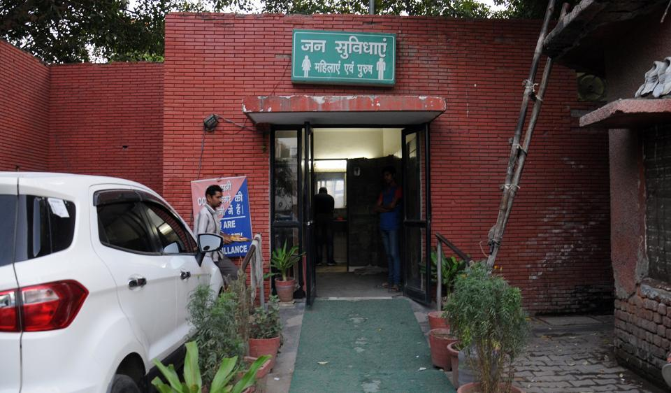 Apublic toilet near Greater Kailash-1 M block market. The South Delhi Municipal Corporation had recently asked all restaurants in its jurisdiction to open their washrooms for the people.