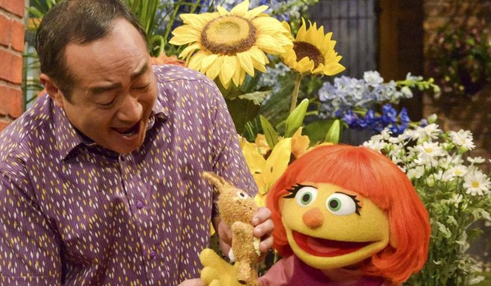 Sesame Street,Muppet with autism,Julia the muppet