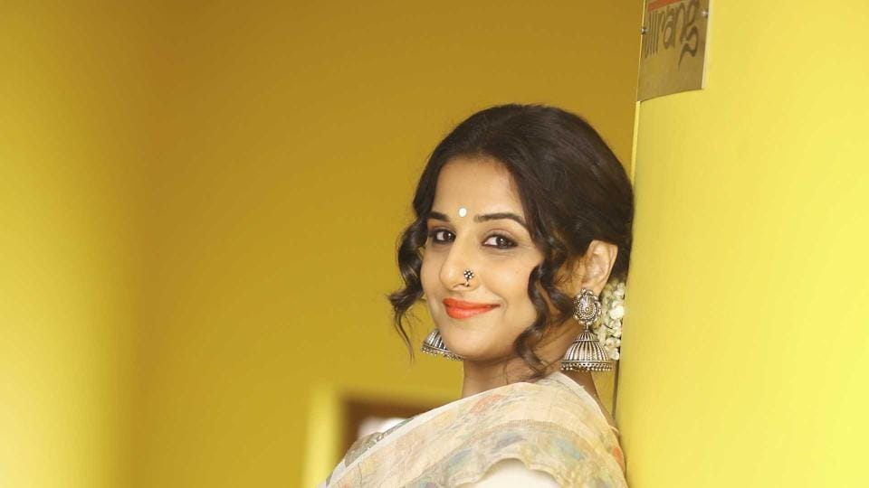 Beautiful: Vidya Balan flaunts her endearing smile. (Photo by Raajessh Kashyap/Hindustan Times )