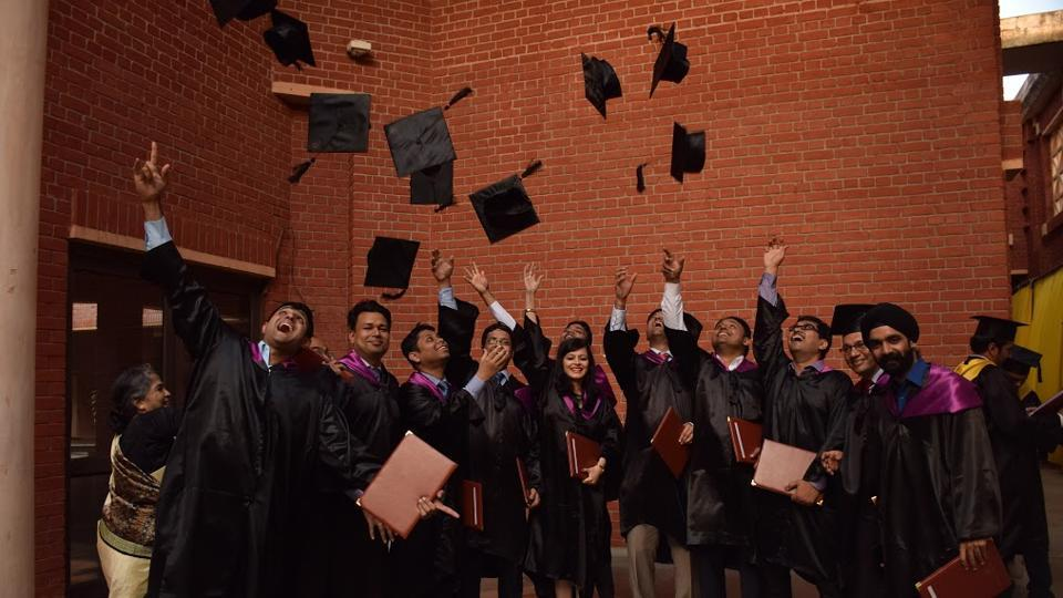 31st annual convocation ceremony at IIM Lucknow, where as many as 590 students were awarded diplomas, on Monday.