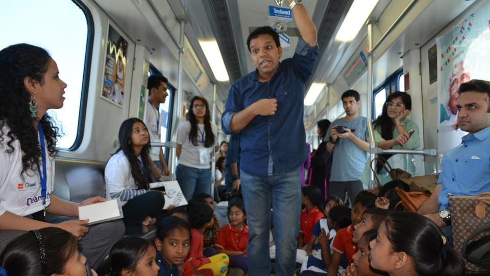 As part of the Sapno Ka Dibba express event and Dreamathon initiative, the half-hour ride commenced from the Sikanderpur Rapid metro station.