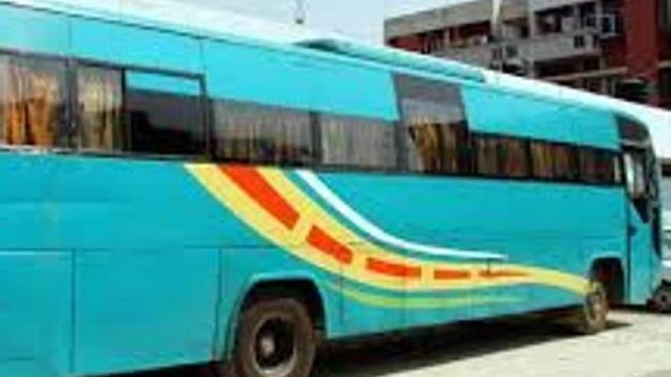The bus was released after five hours as the mishap victim Amandeep Singh, who had sustained minor injuries on his right foot, did not press any charges.