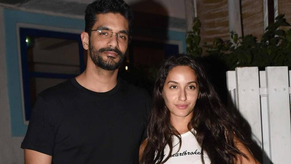 Actor Nora Fatehi says Angad Bedi has immense respect for her.