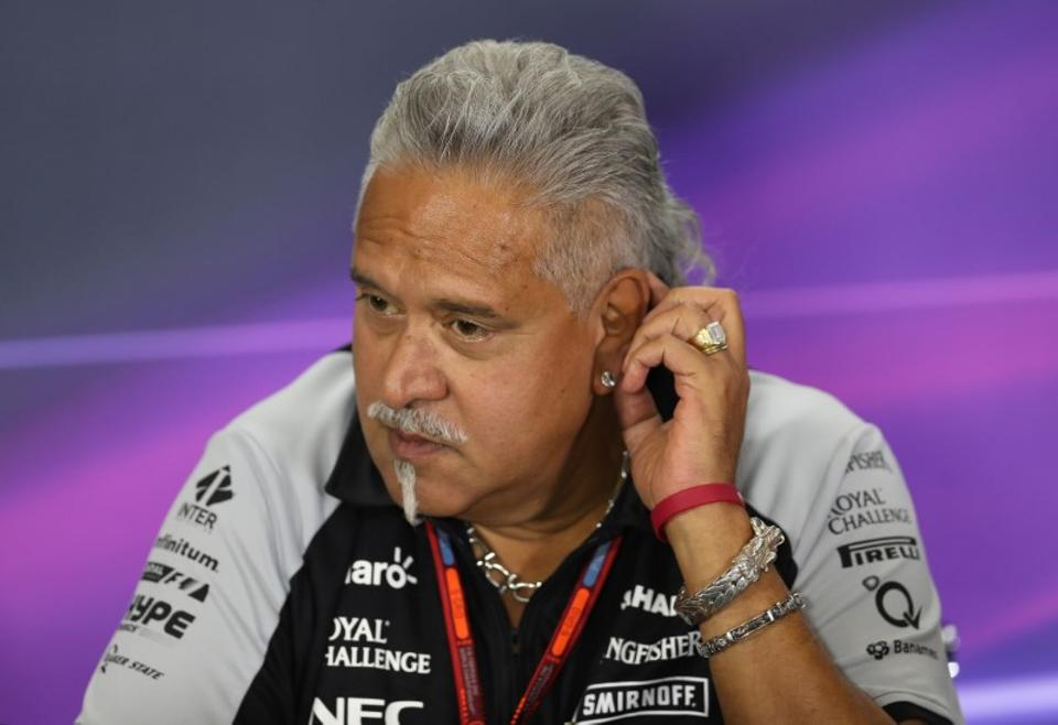 Britain Formula One - F1 - British Grand Prix 2016 - Silverstone, England - 8/7/16 Force India team principal Vijay Mallya during the press conference Action Images