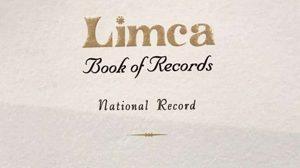 The Limca Book of Records certificates.